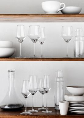 Broste CPH - Glass - White wine glass - Amber / Smoke - Smoke