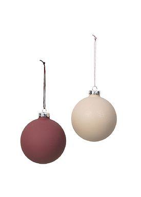 Broste CPH - Christmas Ball - Julekugle Lydia - Red Clay