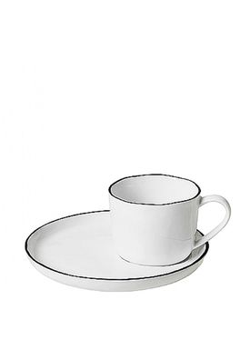 Broste CPH - Cup - Salt Small Cup M/Saucer - Light White