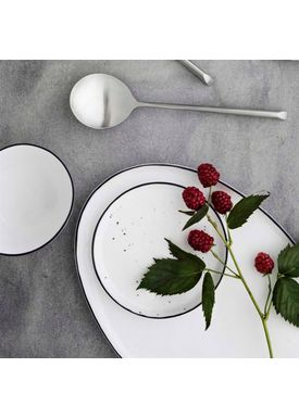 Broste CPH - Plate - Salt Dots Desserts Plate - Light White
