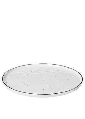 Broste CPH - Plate - Salt Dots Dinner Plate - Light White