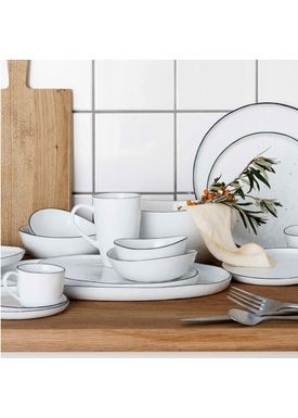 Broste CPH - Plate - Dinner Plate Salt - Light White