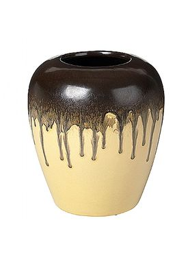 Broste CPH - Vase - Larry Vase - GOLDEN FLEECE/CROCODILE