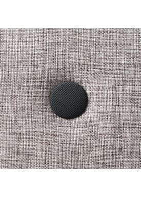 By KlipKlap - Mattress - KK 3 fold single w. buttons - Multi grey w. grey buttons