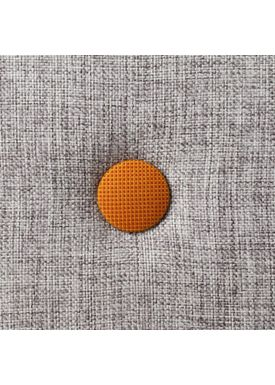 By KlipKlap - Mattress - KK 3 fold single w. buttons - Multi grey w. orange buttons