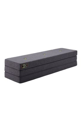 By KlipKlap - Mattress - KK 3 fold w. buttons (180 cm) - Blue grey w. grey buttons XL