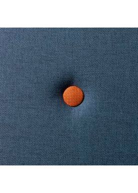 By KlipKlap - Mattress - KK 3 fold w. buttons (180 cm) - Dark blue w. orange buttons XL