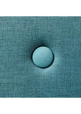 By KlipKlap - Mattress - KK 3 fold w. buttons (180 cm) - Dusty blue w. blue buttons