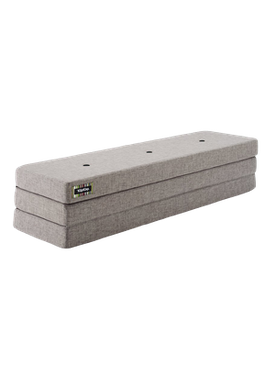 By KlipKlap - Mattress - KK 3 fold w. buttons (180 cm) - Multi grey w. grey buttons