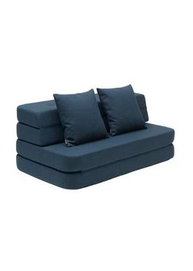 By KlipKlap - Couch - KK 3 fold sofa w. buttons - Dark blue w black buttons