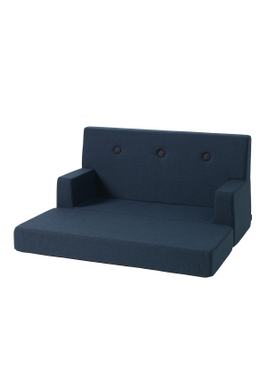 By KlipKlap - Couch - KK Kids Sofa - Dark blue w black buttons
