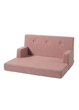By KlipKlap - Couch - KK Kids Sofa - Soft Rose w Soft Rose buttons
