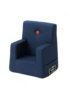 By KlipKlap - Chair - KK Kids Chair - Dark blue 90 w orange buttons
