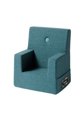 By KlipKlap - Chair - KK Kids Chair - Dusty blue 940 w blue buttons
