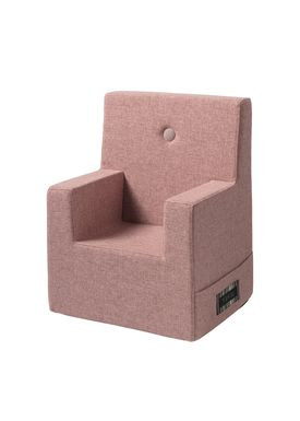 By KlipKlap - Chair - KK Kids Chair XL - Soft Rose 11395 B w rose buttons