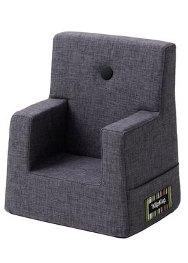 By KlipKlap - Chair - KK Kids Chair - Blue grey 510 w grey buttons