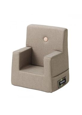 By KlipKlap - Chair - KK Kids Chair - Warm grey 20 w light peach buttons