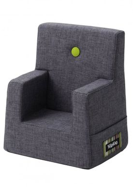 By KlipKlap - Chair - KK Kids Chair - Blue grey 510 w green buttons