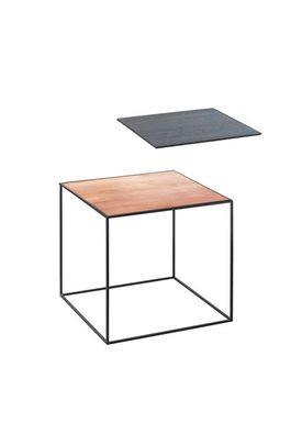 By Lassen - Table - Twin 35 Table - Cobber/Black with Black Base
