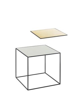 By Lassen - Table - Twin 35 Table - Brass/Misty Green with Black Base