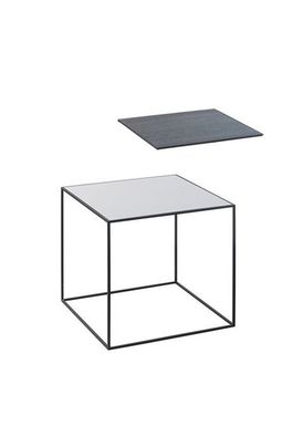 By Lassen - Table - Twin 35 Table - Cool Grey/Black With Black Base