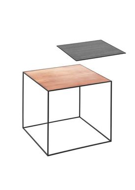 By Lassen - Table - Twin 42 - Copper/Black With Black Base