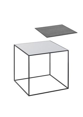 By Lassen - Table - Twin 42 - Cool Grey/Black With Black Base