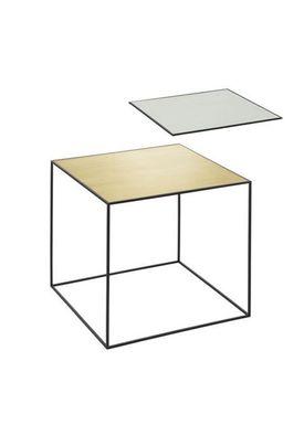 By Lassen - Table - Twin 42 - Brass/Misty Green With Black Base