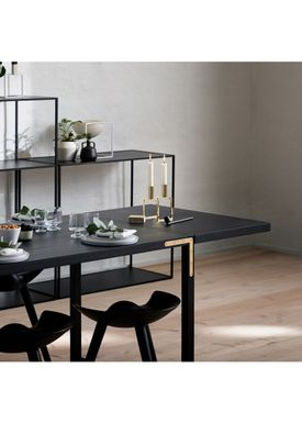 By Lassen - Dining Table - Conekt Leaf - Black Stained Ash