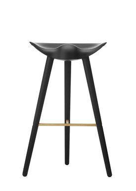 By Lassen - Stol - ML 42 Bar Stool - High - Black Stained Beech/Brass