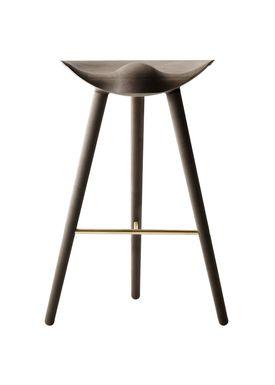 By Lassen - Stol - ML 42 Bar Stool - High - Brown Oiled Oak/Brass