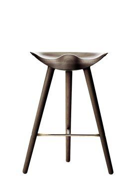By Lassen - Stol - ML 42 Bar Stool - Low - Brown Oiled Oak/Brass