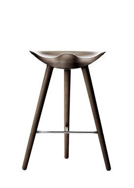 By Lassen - Stol - ML 42 Bar Stool - Low - Brown Oiled Oak/Steel