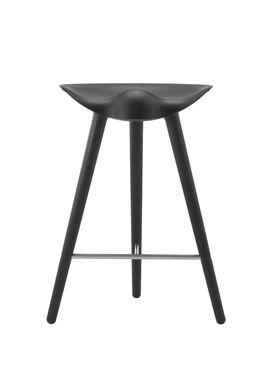 By Lassen - Stol - ML 42 Bar Stool - Low - Black Stained Beech/Steel
