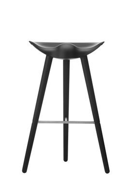 By Lassen - Stol - ML 42 Bar Stool - High - Black Stained Beech/Steel
