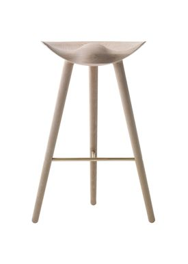 By Lassen - Stol - ML 42 Bar Stool - High - Oak/Brass