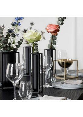 By Lassen - Vase - Kubus Vase - Flora Black