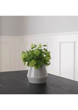 By Lassen - Vase - Rimm Vase - Cool Grey Short