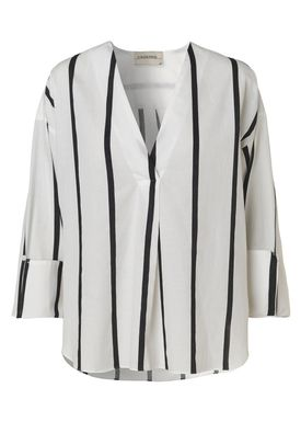 By Malene Birger - Blouse - Bobinoh - Black/White Stripe