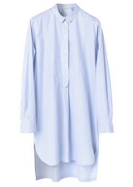 By Malene Birger - Shirt - Samfa Shirt Dress - Pastel Blue Stripes