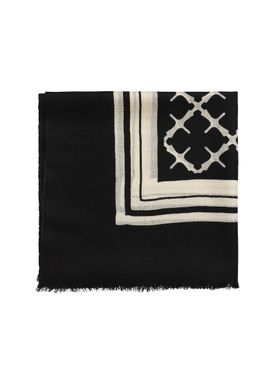 By Malene Birger - Scarf - Cornelis - Black/Cream Signature