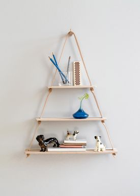 By Wirth - Shelf - Amager Shelf - Natural Leather/Wood