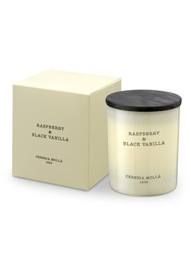 Cereria Mollá - Scented Candles - Vegetal wax Glass Candle - Small - Raspberry & Black Vanilla