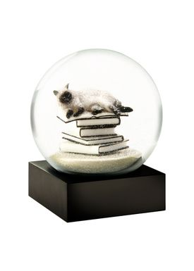 CoolSnowGlobes - Snow Globe - CoolSnowGlobes - Cat On Books White