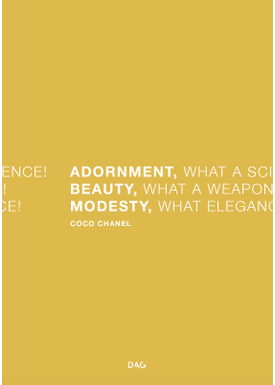 DAG - Poster - Adornment, Beauty and Modesty - Muddy Mustard
