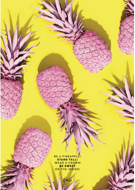 DAG - Poster - The yellow ones - Be a Pineapple