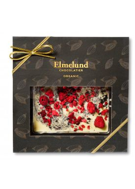 Elmelund Chocolatier - Choclate - Organic Chocolate - Whitechoco/Licorice/Rasberry