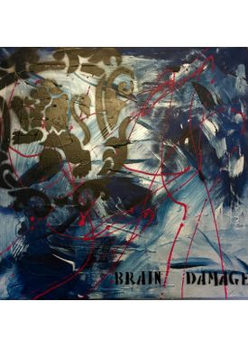 Falentin Art - Painting - Brain damage - Blue