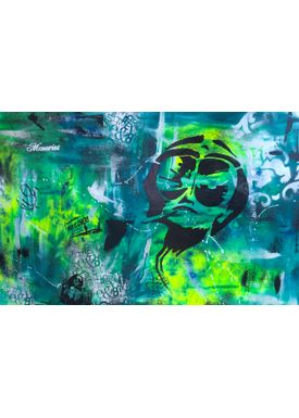 Falentin Art - Painting - Fear and Loathing - Green