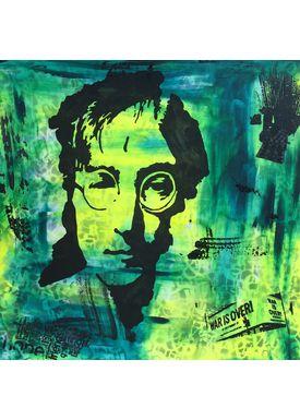Falentin Art - Painting - Lennon - Green